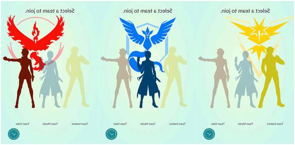 Три команды в Pokemon Go